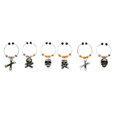 Boston Warehouse Trading Corp Bone Collector Wine Charm (Set of 6)
