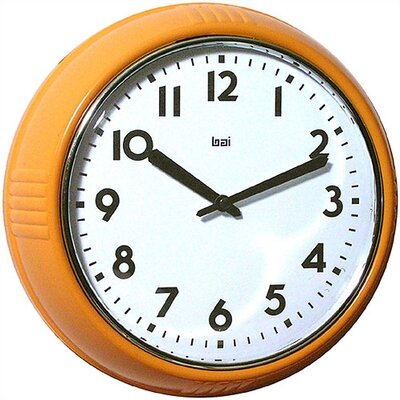 Bai Design Too Cool for School Retro Modern Wall Clock