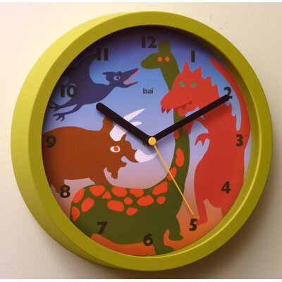 Bai Design Children Wall Clock with Dinosaurs