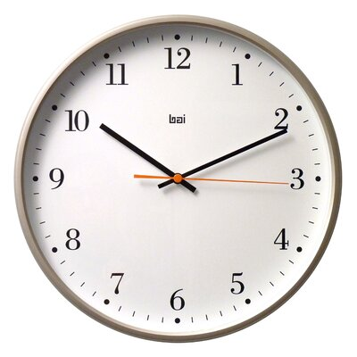 Bai Design Jumbo Wall Clock in Bodoni Titanium