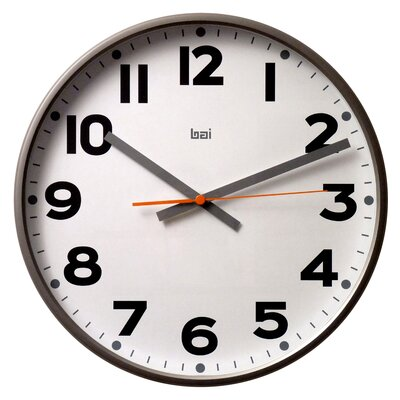 Bai Design Jumbo Wall Clock in Madison Gunmetal
