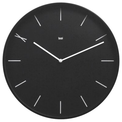 Bai Design Modernist Steel Wall Clock Ten in Black
