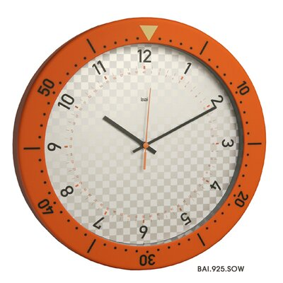 Bai Design Speedmaster Wall Clock in Orange and White
