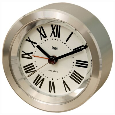 Bai Design Astor Aluminium Travel Alarm Clock in Roman