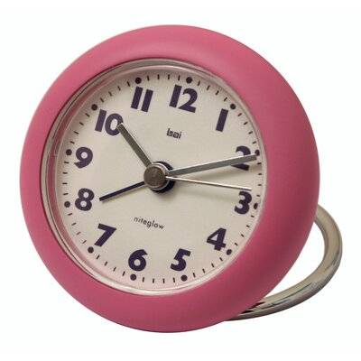 Bai Design Rondo Travel Alarm Clock in Pink