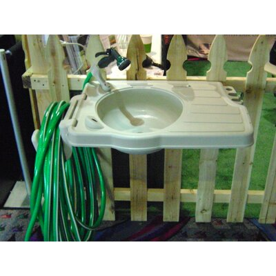 Riverstone Industries Outdoor Sink with Large Work Space and Hose Reel