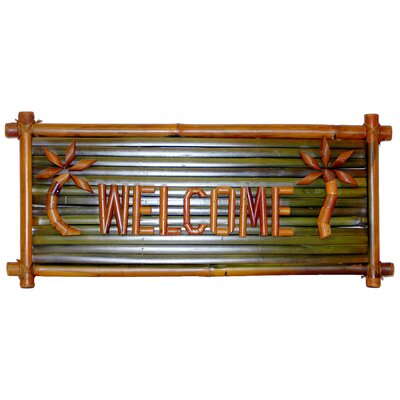 Bamboo54 Small Bamboo Welcome Garden Sign