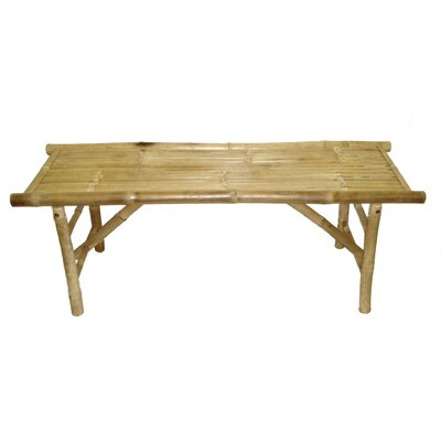 Bamboo54 Natural Bamboo Folding Bench