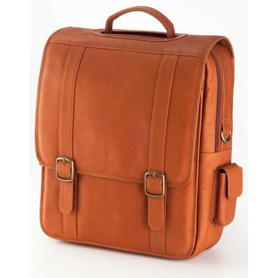 Vachetta Porthole Vertical Laptop Briefcase in Tan