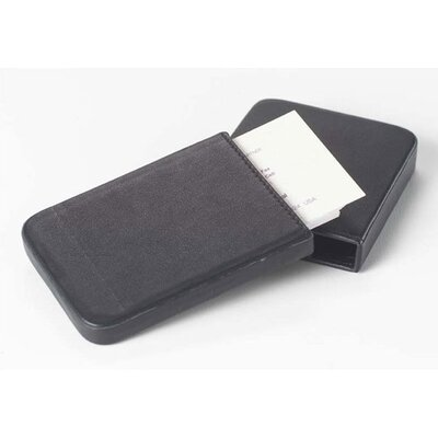 Clava Leather Bridle Business Card Slide Case in Blue