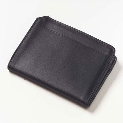 Clava Leather Quinley Front ID Card Wallet in Black