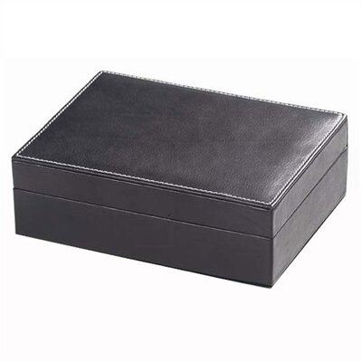 Clava Leather Tuscan Small Rectangular Box in Black
