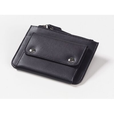 Clava Leather Coin Wallet in Black