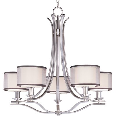 Taniya Nayak Banded 5 Light Chandelier