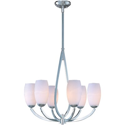 Rain Drop 6 Light Chandelier