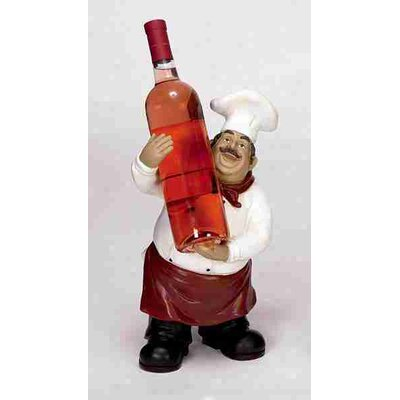 UMA Enterprises Urban Trends Polystone Chef Tabletop Wine Rack