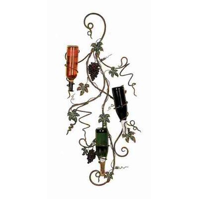 UMA Enterprises Metro 3 Bottle Wall Mounted Wine Rack