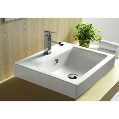 "Caracalla 17.44"" X 6.22"" Square Self Rimming Bathroom Sink"