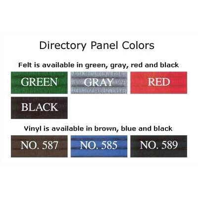 Claridge Products W556 Classic Style Directory with Vinyl or Felt