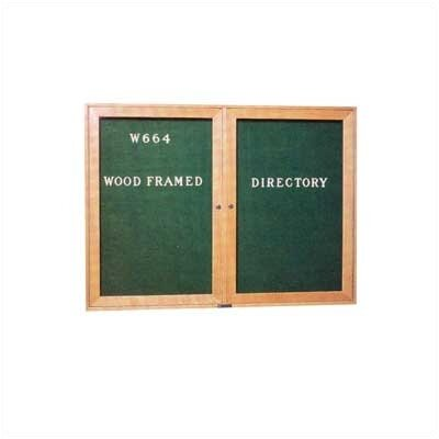 Claridge Products 36&quot;H x 48&quot;Wide Wood Framed Directory with Glass Doors