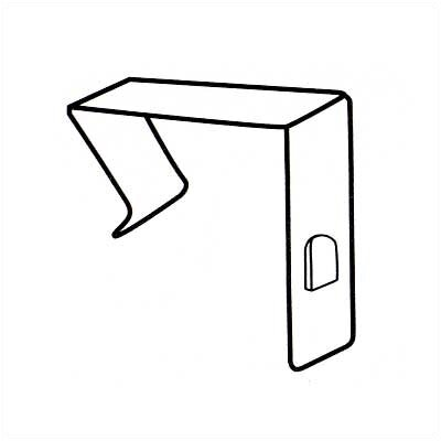 Claridge Products No. 80 Partition Clips (Pair)