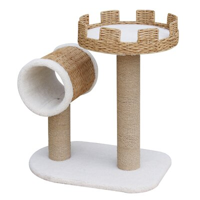 "PetPals Cattail 27"" Crown Cat Perch and Tunnel"