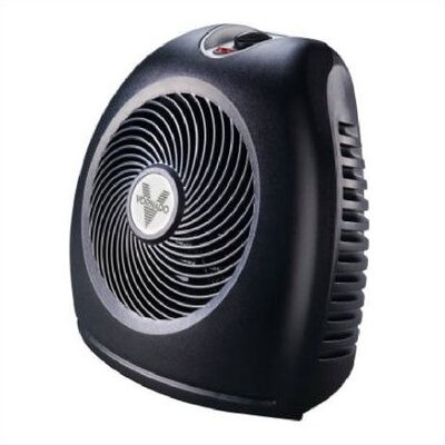 800 Watt Fan Forced Compact Electric Space Heater with Auto Shut Off