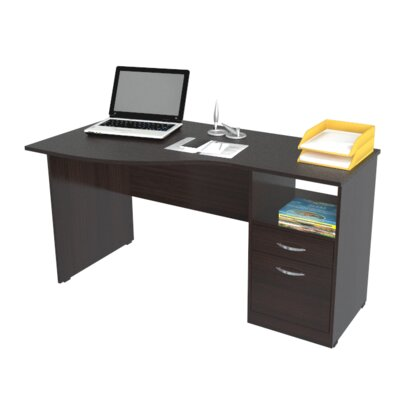 Inval Curved Top Computer Desk