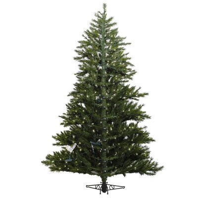 Vickerman Co. Minnesota Pine 7.5' Westbrook Artificial Half Christmas Tree with Clear Lights