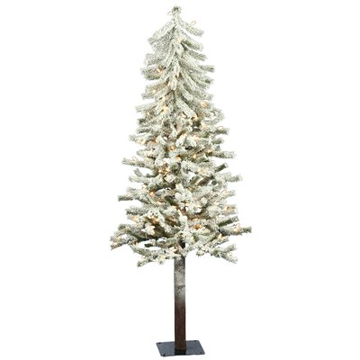 Vickerman Co. Flocked Alpine 5' Artificial Christmas Tree with Clear Lights