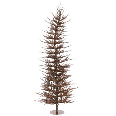 Vickerman Co. Colorful Laser 6' Mocha Artificial Christmas Tree with 150 Clear Lights