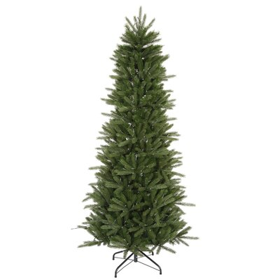 "Vickerman Co. Vermont Instant Shape 6' 6"" Green Artificial Christmas Tree with Stand"