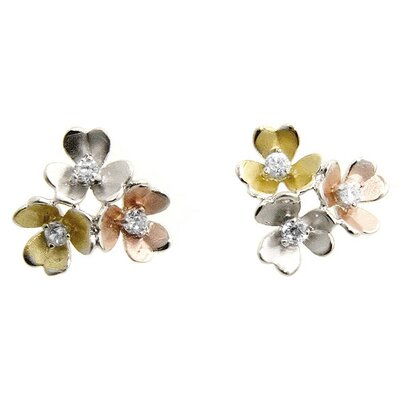 J Goodin Silver-Tone Flower Bouquet Earrings