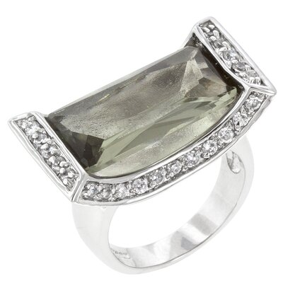 J Goodin Clear Cubic Zirconia Ivy Cradle Cocktail Ring