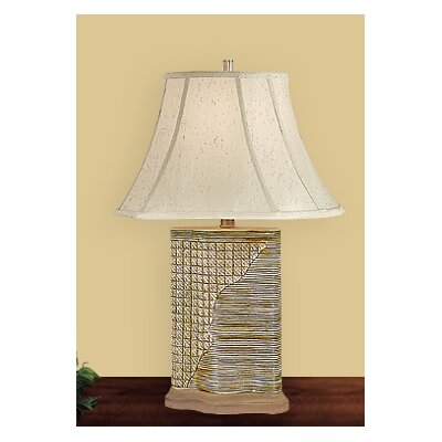 JB Hirsch Home Decor Woven Wicker Table Lamp