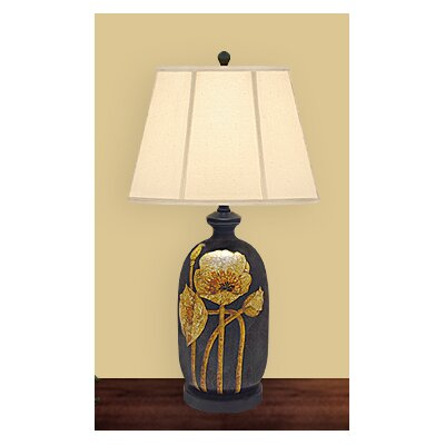 JB Hirsch Home Decor Blooming Flower Table Lamp