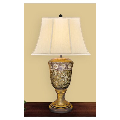 "JB Hirsch Home Decor 32"" Golden Egg Shell Porcelain Table Lamp"