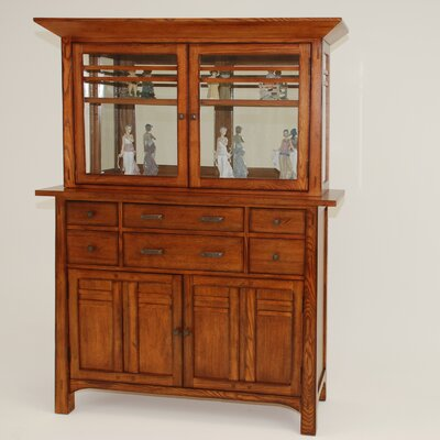 GS Furniture Arts and Crafts Bungalow China Cabinet