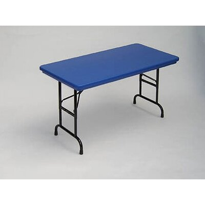 Correll, Inc. Bright Color Plastic Folding Table with Adjustable Legs