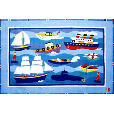 Fun Rugs Olive Kids Boats and Bouys Kids Rug