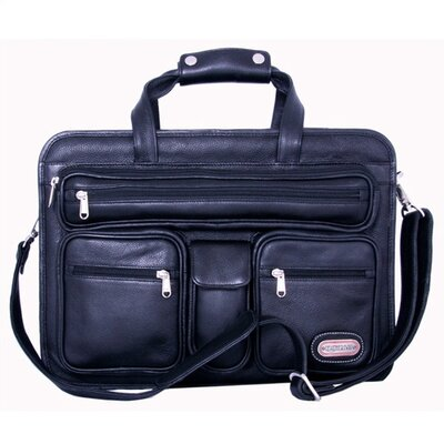 Leatherbay Cambridge Leather Briefcase in Black