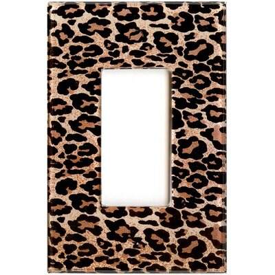 HomePlates Worldwide Artitude Leopard Print Decorative Light Switch Cover - Single Rocker Switch