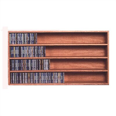 Wood Shed 400 Series 472 CD Wall Mounted Multimedia Storage Rack