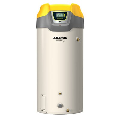 A.O. Smith Commercial Tank Type Water Heater Nat Gas 100 Gal Cyclone Xi Input High Efficiency