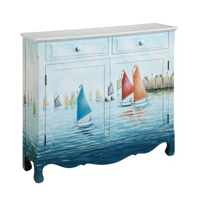 Gail's Accents Shoreline Regatta 2 Drawer Cupboard