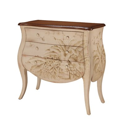 Shoreline Banana Leaf Bombay 3 Drawer Chest
