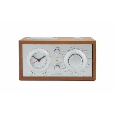 Tivoli Audio LLC Model Three Clock Radio in Cherry / Silver