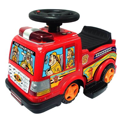 Kidz Motorz Fire Engine Ride-On in Red