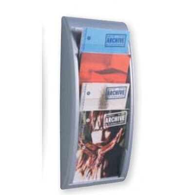 Paperflow Letter Quick Fit Systems Literature Display with Four pockets in Silver