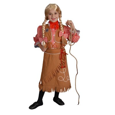 Dress Up America Cow Girl Children's Costume